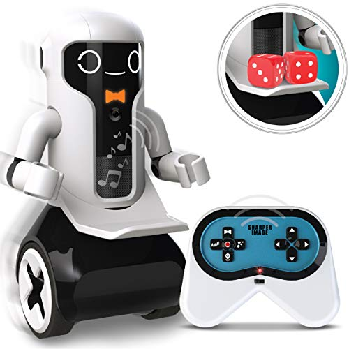 SHARPER IMAGE Maximilian The RC Butler Bot, Interactive Remote Control Robot with Speech, Singing, Audio Recording, Motion Detection, Color-Coded Emotional Responses (Robotic Butler)