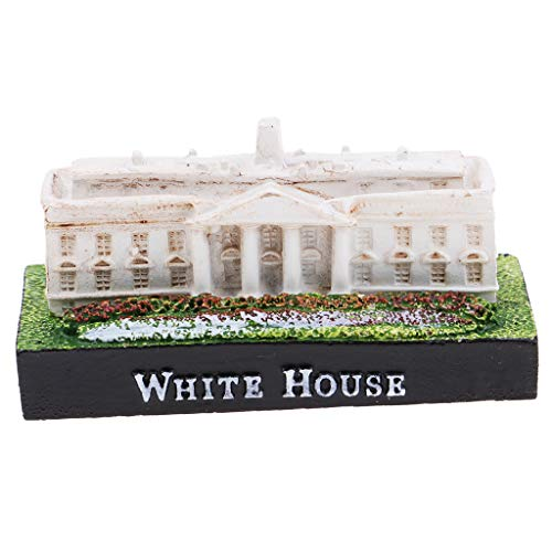 SM SunniMix Resin Mini White House Model Figurine Landmark Building Toy for Home Table Decoration Souvenir