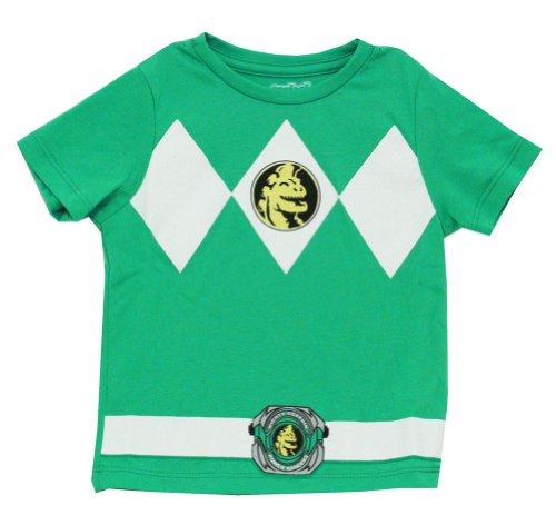 Mighty Morphin Power Rangers Green Ranger Mighty Fine Costume Toddler T-Shirt Tee