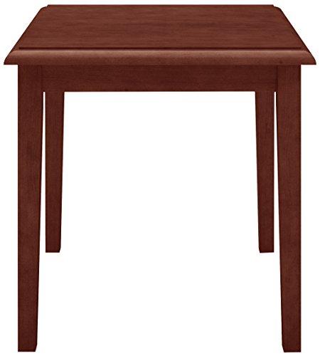 Lesro Amherst Wood End Table in Mahogany Finish