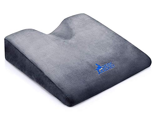 Car Seat Cushion - Premium Firm Therapeutic Grade Automobile Wedge Pad to Elevate Height and Comfort While Driving for Motorists
