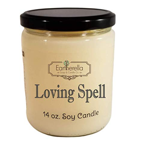 LOVING SPELL type Natural Soy Wax 14 oz. Jar Candle, 90+ hours