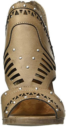 Cute Very Peep Burnished Women's Ankle Toe Taupe Cut Outs Side Boot Sugar Ofxnnwa
