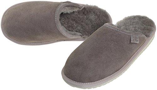 Harrys-Collection Extra Dicke Lammfell Pantoffeln für Herren Flache Form Sand