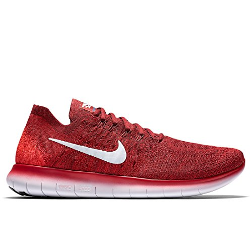 Uomo Rn University team Nike Da Red Pure Trail Flyknit 2017 Running Free 600 Scarpe Platinum Rosso Cq548qU6