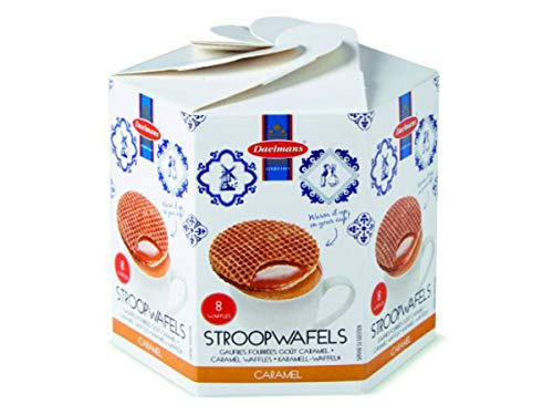 Daelmans Stroopwafels | Caramel Stroopwaffles | Caramel Wafers - 230 g per Hexa Box - Warm it up on Your Cup - Great Small Gift for Friends, Family & Colleagues