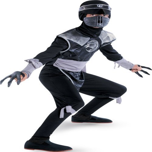 [Shadow Ninjas Dark Raven Deluxe Child Costume Small] (Dark Shadows Halloween Costumes)