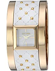 Steve Madden Womens Quartz Gold and Alloy Casual Watch, Color:Two Tone (Model: SMW006G-WT)