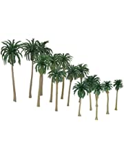 MagiDeal 15 Stks Landscaping Coconut Palm Tree Bomen Model Train 16-7 CM