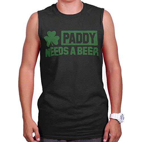 Paddy Need Beer Funny St Patricks Day Patty Shirt Gift Irish Sleeveless Tee