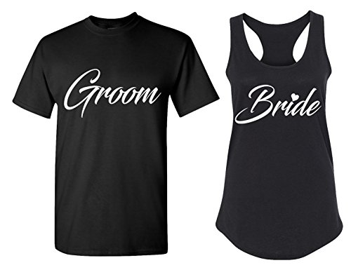 Couples Apparel Groom and Bride Matching Bachelorette Party T Shirts - Bridal Tank Tops