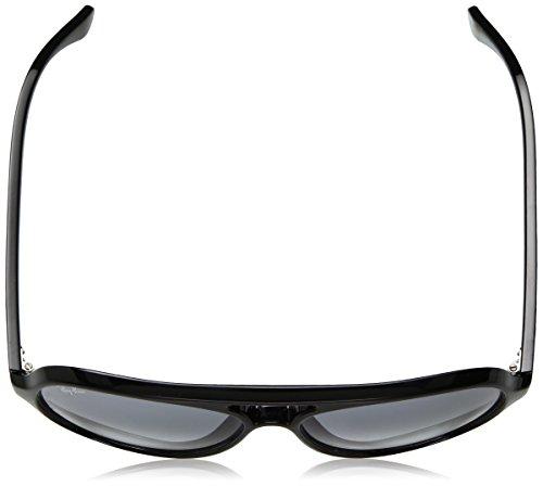 Ray-Ban lunettes de soleil Cats 5000 aviateur en dégradé de bleu noir RB4125 601/3F 59 Noir (Negro)