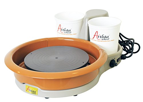 Speedball Portable Artista Table Top Pottery Wheel, 11 inch Wheel Head, 25 lb. Centering Capacity (ARTISTA)