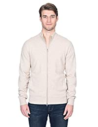 State Fusio Men's Cashmere Wool Full-Zip Mock Neck Sweater Premium Quality