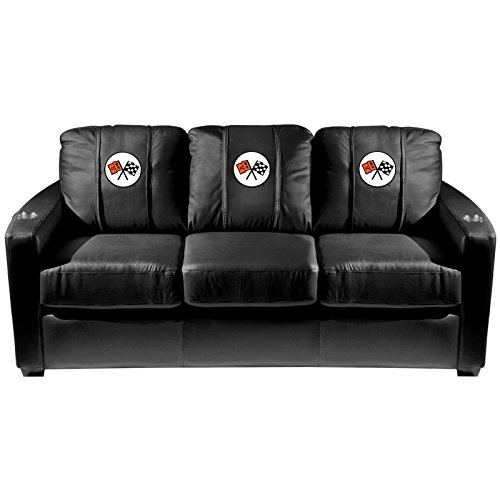 XZipit GM Silver Sofa with Corvette C2 Logo Panel, Black