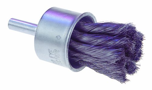 Osborn 00030017SP Knot Wire End Brush, Steel Bristle, 20000 RPM, 1'' Diameter, 2-3/4'' Length, 0.014'' Fill Diameter