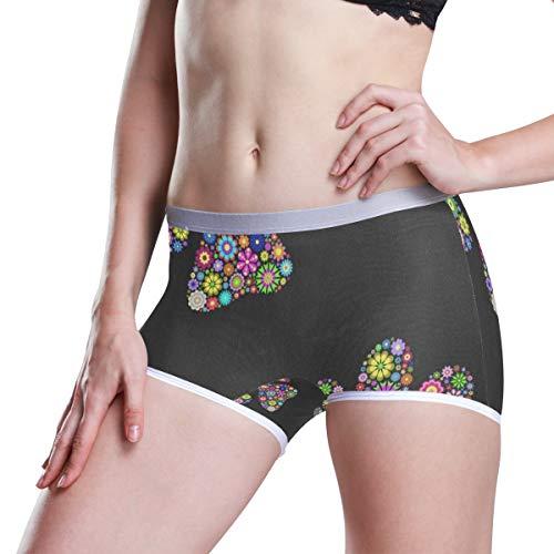 Rainbow Dogs Paw Womens Seamless Panty Boyshorts Stretch Sexy Underwear Boy Shorts