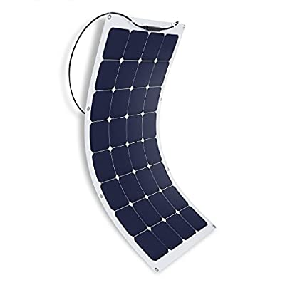 Suaoki 50W/100W 18V Solar Panel Charger SunPower Cell Ultra Thin Flexible with MC4 Connector Charging for RV Boat Cabin Tent Car(Compatibility with 18V and Below Devices)