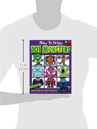 Large Product Image of How to Draw 101 Monsters: Easy Step-by-step Drawing (How to draw)
