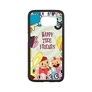 Durable Hard cover Customized TPU case Happy Tree Friends Samsung Galaxy S6 Cell Phone Case White