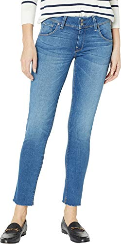 HUDSON Women's Collin Mid-Rise Ankle Flap Pocket Jeans in Vision Vision 28 27.5
