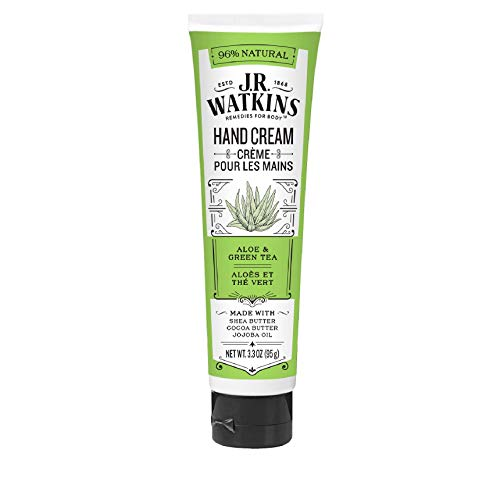 J.R. Watkins Hand Cream with Shea and Cocoa Butters, Aloe & Green Tea