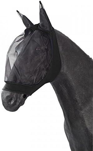 PFIFF 101977 Fly mask for Horses, Black, Size: Full/Warmblood