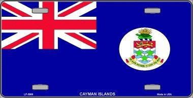 Cayman Islands Flag Vanity Metal Novelty License Plate Tag ()