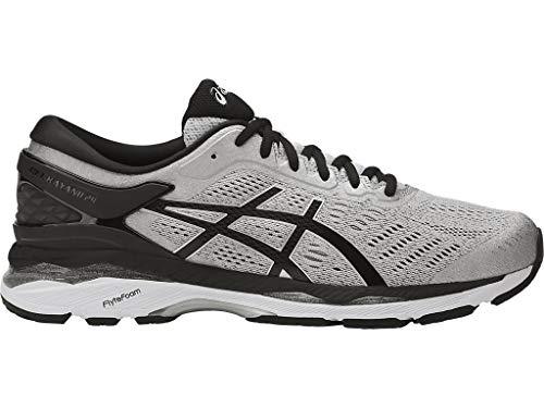 ASICS Mens Gel-Kayano 24 Running Shoe, Silver/Black/Mid Grey, 10 2E US