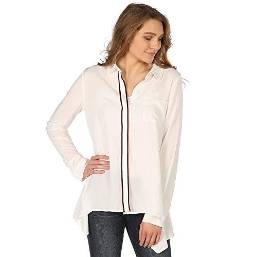 NRS Womens Kristin Long Sleeve Forward Seam Shirt with Stripes XL White