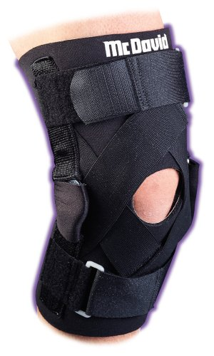 McDavid 427 Deluxe Hinged Adjusable Neoprene Sleeve Knee Guard, Large