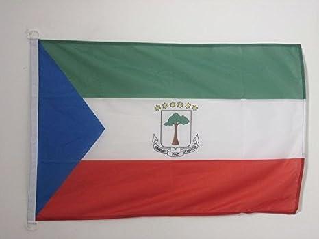 AZ FLAG Bandera de Guinea ECUATORIAL 90x60cm Uso Exterior - Bandera ECUATOGUINEANA 60 x 90 cm Anillos: Amazon.es: Jardín