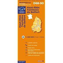 Ign Département #68 Haut-Rhin & Territoire de Belfort
