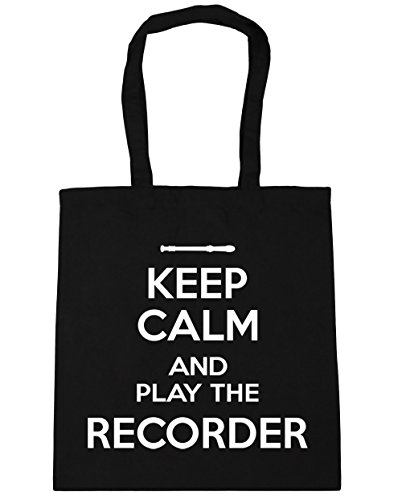 litres Shopping Gym Keep Bag Tote Recorder 42cm and Play 10 Black the Beach Calm HippoWarehouse x38cm n6x4HRqwH