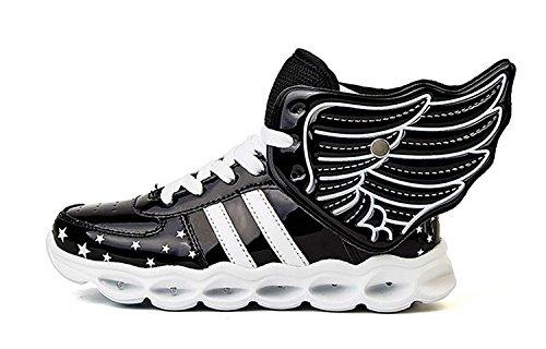 3e58dc0546ecf A5uyzbayu Boys&Girls LED Flash Luminous Sneakers Glowing Wings Shoes ...