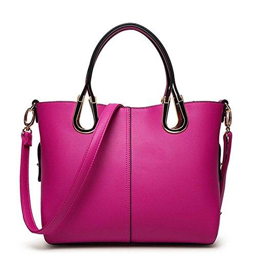 Kaisasi 2016 Summer New Womens Fashion Leather Handbag Shoulder Bag Picture Diagonal Package(rose)