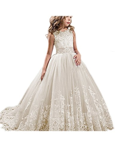 ong Girls Pageant Dresses Kids Prom Puffy Tulle Ball Gown US 2 ()
