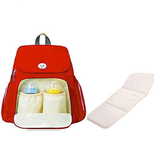 Sunveno Multifunción Impermeable Bolso cambiador de pañales Mochila de pañales para mamá con cambiar de mat (azul) rosso