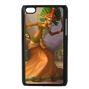 iPod Touch 4 Case Black League of Legends Sun Goddess Karma EUA15998676 Phone Case Cover Durable Unique