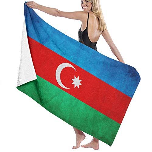 追加倉庫現実的ビーチバスタオル バスタオル アゼルバイジャン旗 速乾タオル 海水浴 旅行用タオル 多用途 おしゃれ White
