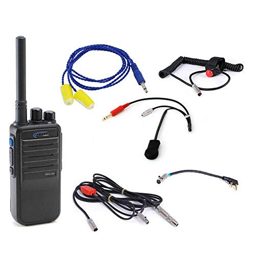 Rugged Radios NASCAR-SS-RDH-16 NASCAR Racing Single Seat Kit - Includes UHF RDH16 Digital Radio, Helmet Kit with Ear Buds, Push to Talk Cable, Radio Jumper and Cable Harness