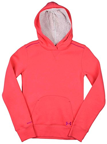 (Under Armour Big Girls' (7-16) UA Charged Cotton Pullover Hoodie-Bright Pink-Medium)