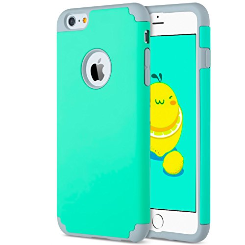iBarbe Case for iPhone 6/6s Plus, 2 in 1 Soft Rubber PC Slim fit Shockproof Protective cover Case with Heavy Duty Protection Scratch Resistant Bumper for Apple iPhone 6 6s - Case Sports 6 Otterbox Iphone