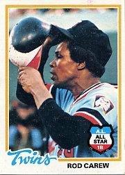 (1978 Topps Baseball Card #580 Rod Carew)