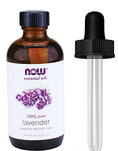 Lavender Dropper (Lavender Oil, 4 oz, From NOW (4 OZ + Glass)