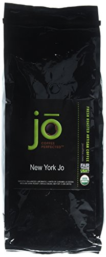 NEW YORK JO: 2 lb, Norm Dark Roast, Whole Coffee Arabica Beans, USDA Certified Organic, NON-GMO, Fair Trade Certified, Signature House Blend, Connoisseur Coffee from the Jo Coffee Collection