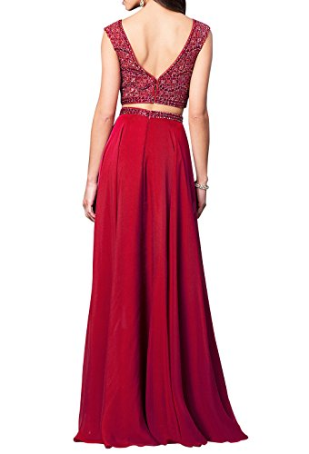 La Brau Partykleider Abschlussballkleider Zwei A Abendkleider teilig Lang Ballkleider mia Festlichkleider Lila Linie ZrA5nqZ