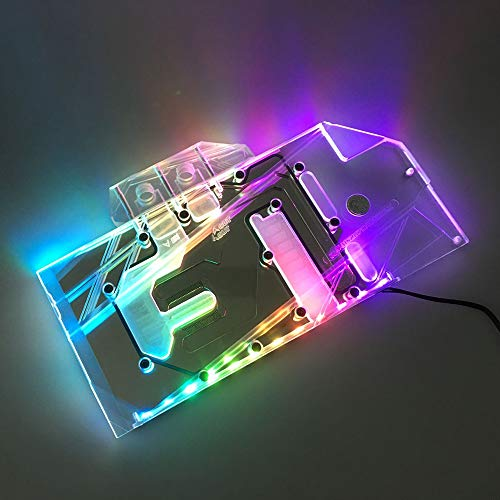 Liquid Cards Cooling Video - GPU Water Block Full-Cover Computer Water Liquid Cooling Graphic Card RBW LED Block for MSI RTX 2080Ti RTX 2080 RTX 2070 (MSI RTX 2070 RBW LED Block)