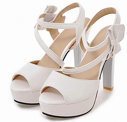 Bianco Tacco Donna Gmmlb010505 Alto Puro Sandali Velcro Agoolar Luccichio twzt8