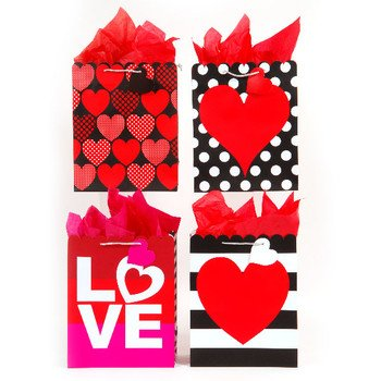 Flomo 1934620 Sending Love Scalloped Die Medium Cut Gift Bag - Case of 180